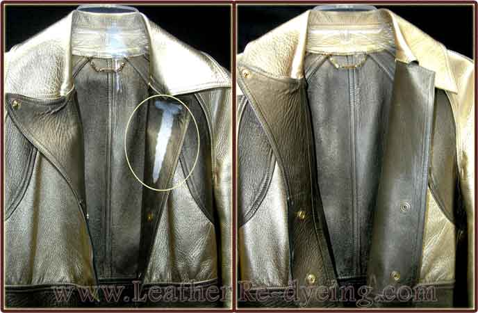 Repairing leather jacket